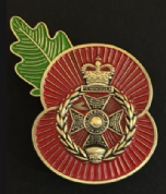 The Royal Green Jackets Remembrance Poppy Pin
